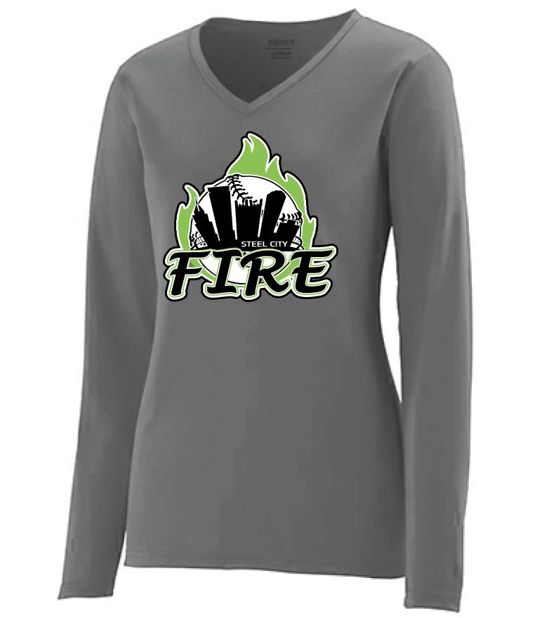 6b62af7fc6b9 Augusta Sportswear – Women's Long Sleeve Wicking T-Shirt – Steel City Fire